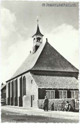 ansichtkaart: Retranchement, Ned. Herv. Kerk