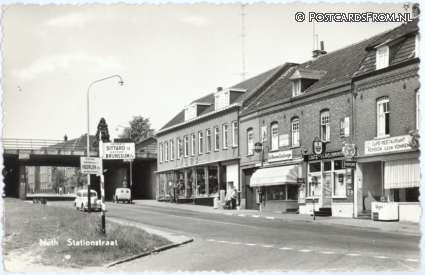 ansichtkaart: Nuth, Stationstraat