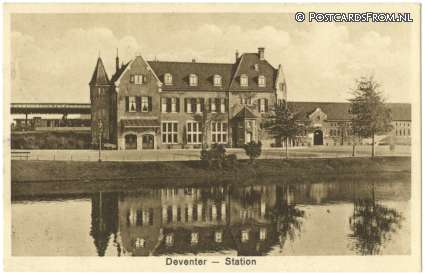 ansichtkaart: Deventer, Station