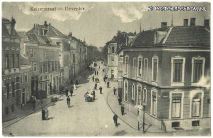 ansichtkaart: Deventer, Keizerstraat
