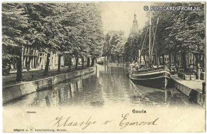 ansichtkaart: Gouda, Haven