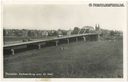 ansichtkaart: Deventer, Verkeersbrug over de IJsel