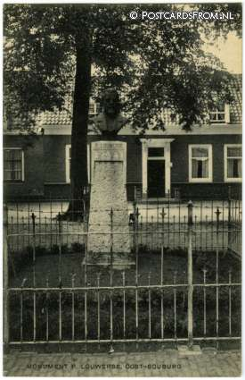 ansichtkaart: Oost-Souburg, Monument P. Louwerse