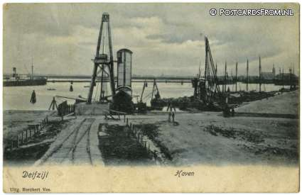 ansichtkaart: Delfzijl, Haven