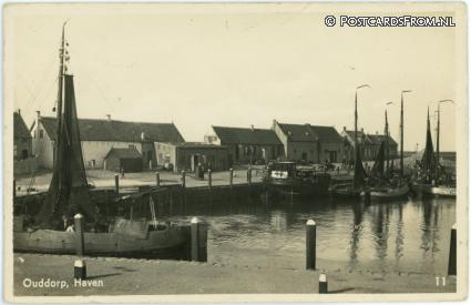 ansichtkaart: Ouddorp, Haven