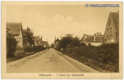 ansichtkaart: Oldemarkt, 't Eind van Oldemarkt