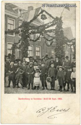 ansichtkaart: Aardenburg, In feestdos 15-27-28 Sept. 1903
